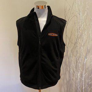 X-LARGE Mens Harley-Davidson Black Vest (1/2)